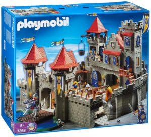 Boite playmobil grand chateau royal lion 3268
