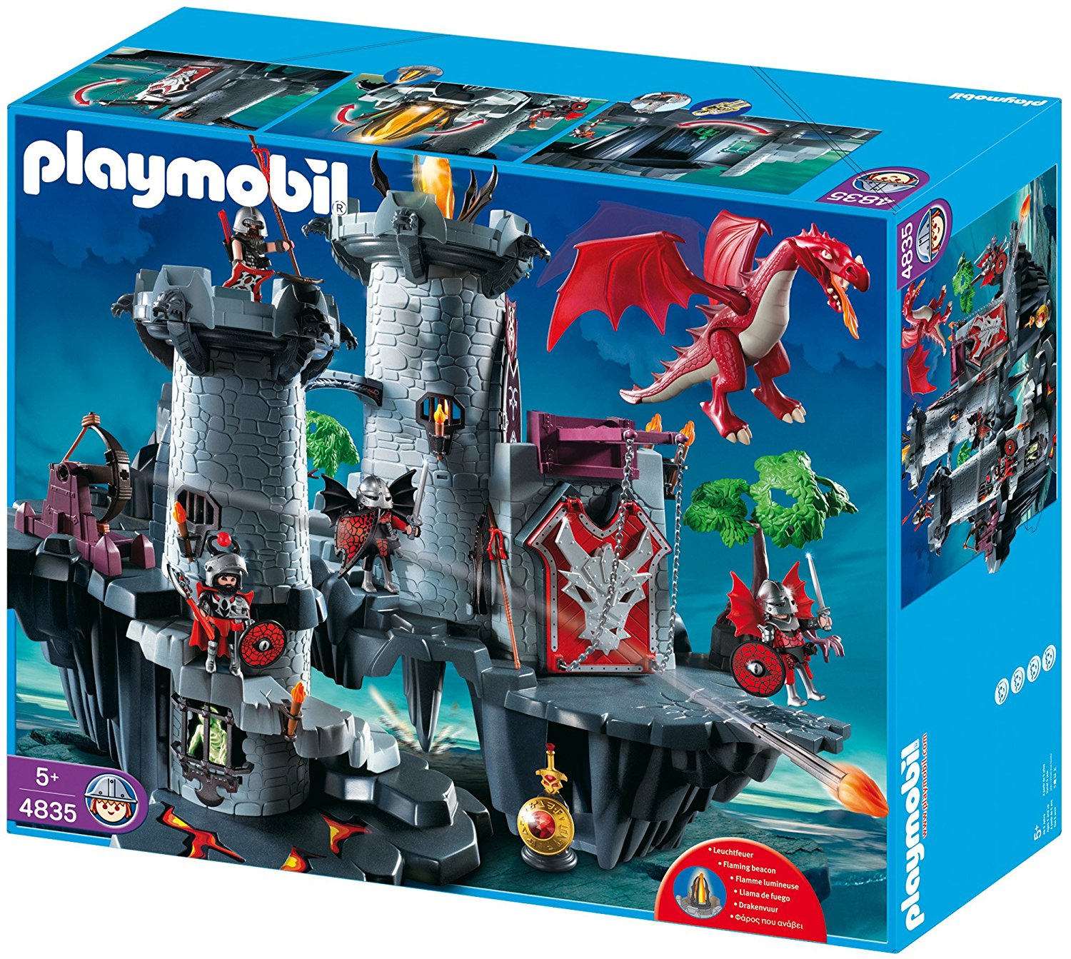 Citadelle chevalier du dragon Playmobil 4835