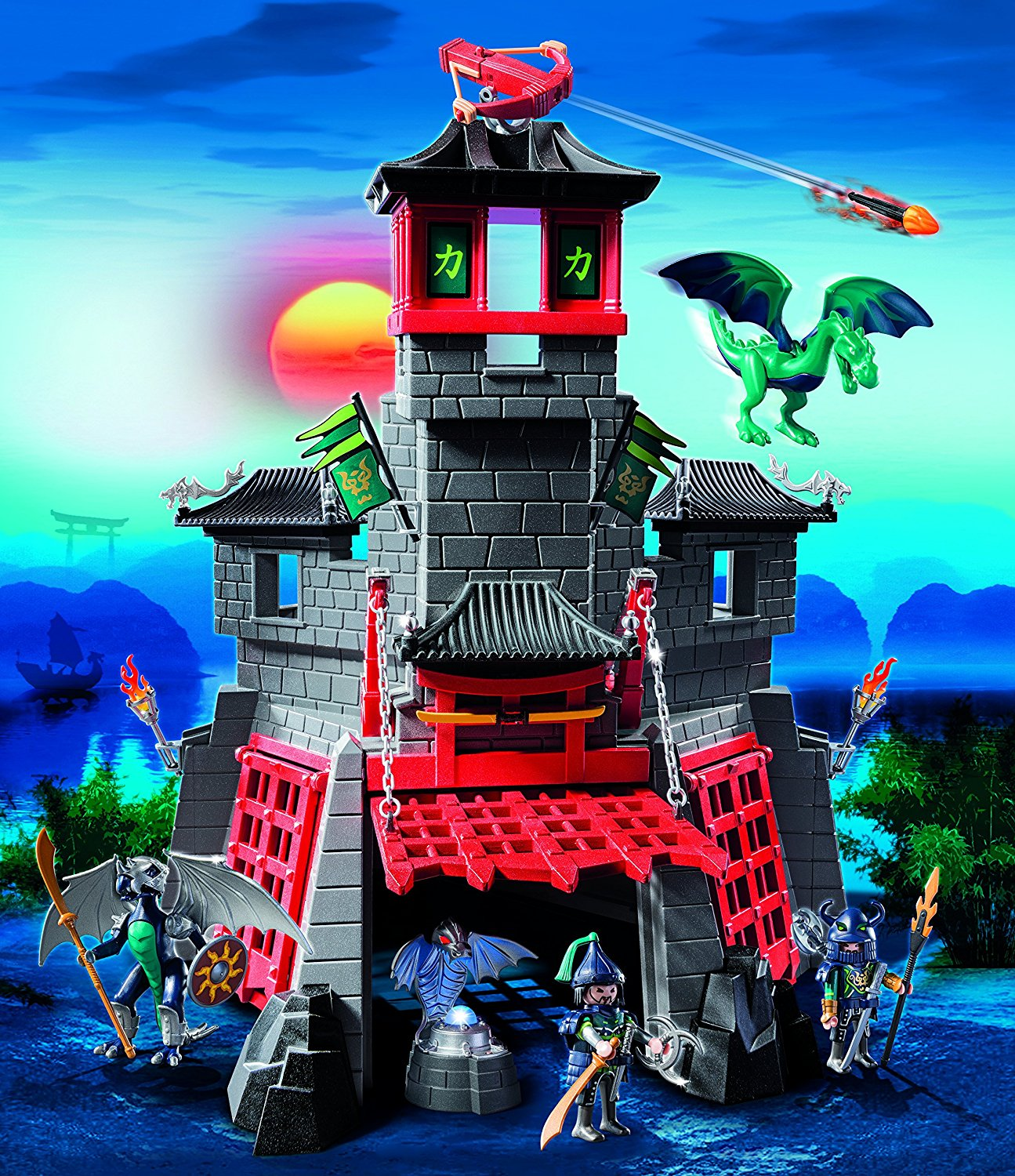 Citadelle secr te du dragon 5480 playmobil ch teau fort for Plan chateau fort playmobil