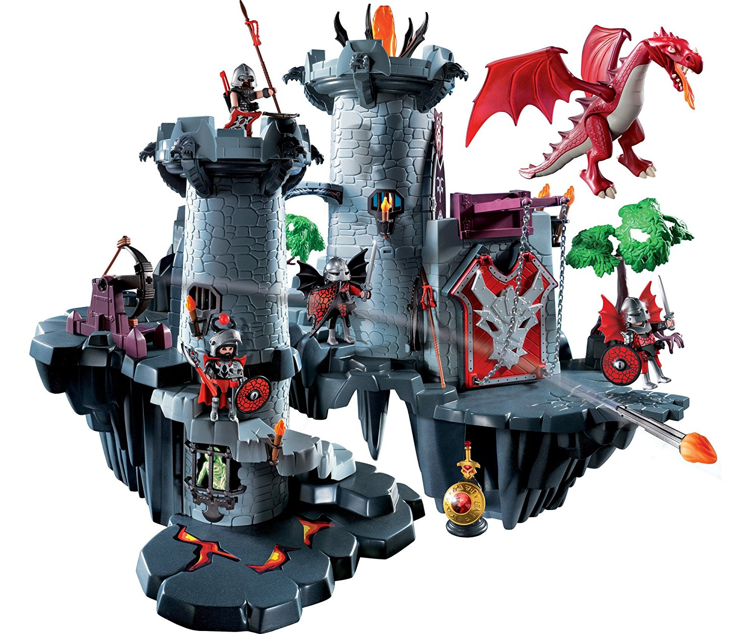 Citadelle du dragon rouge 4835 playmobil ch teau fort for Plan chateau fort playmobil