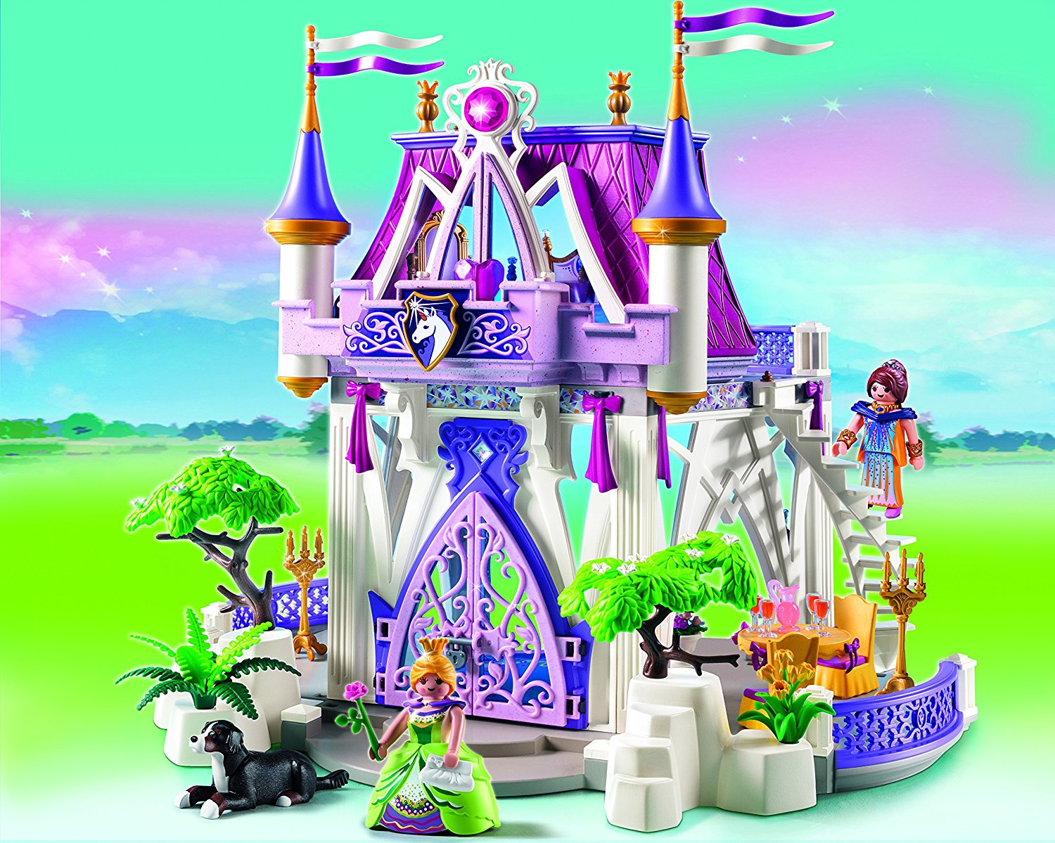 pavillon de cristal 5474 playmobil princess ch teau fort