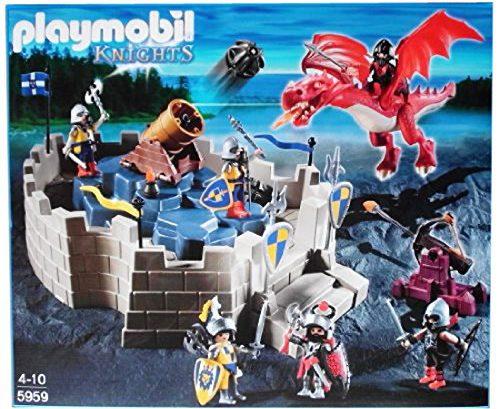 La forteresse des chevaliers avec grand canon et dragon 5959 Playmobil