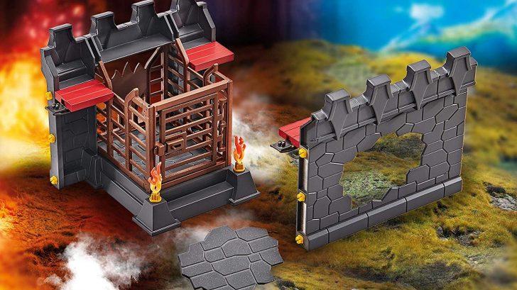 Façade d'extension avec prison et mur cassable pour la Forteresse volcanique des Burnham Raiders 9841